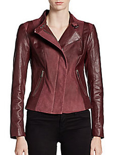 Andrew Marc Leighton Leather Moto Jacket