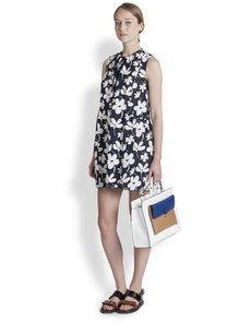 Marni Ink Flower Print Dress