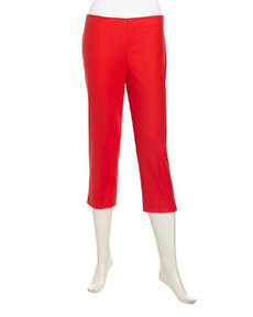 Lafayette 148 New York Relaxed Stretch Twill Capri Pants, Rosehip