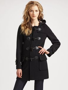 Burberry Brit Wool Duffle Coat
