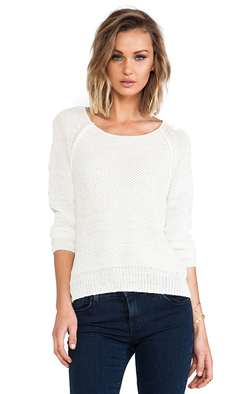 Joie Elana Open Stitch Pullover in Ivory