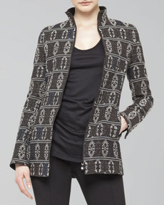 Akris punto Tribal-Print Zip Jacket