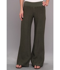 Three Dots Wide Leg Linen Pant