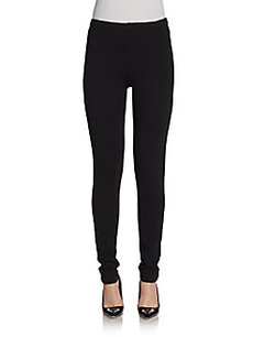 Saks Fifth Avenue BLACK Front-Seam Leggings