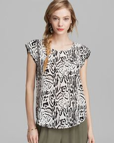 Joie Top - Rancher Animal Print Silk