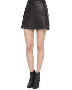 Florencia Lambskin Leather Skirt   Florencia Lambskin Leather Skirt