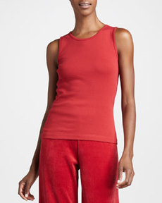 Joan Vass Sleeveless Cotton Tank, Women's