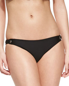 Bayside Solids Retro Swim Bottom, Black   Bayside Solids Retro Swim Bottom, Black