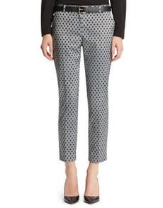 Diamond Jacquard Slim Pant