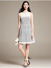 Eyelet Fit-and-Flare Dress