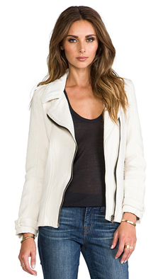 Sanctuary City Moto Jacket in Ivory