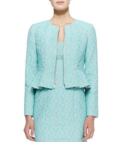 Nanette Lepore Crazy For You Zip-Front Jacket