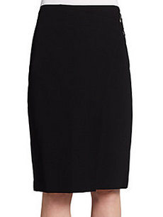Lafayette 148 New York Leia Wrap-Effect Skirt