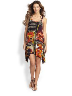 Jean Paul Gaultier Foto Print Tank Dress