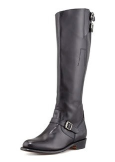 Frye Dorado Polished Leather Riding Boot, Black