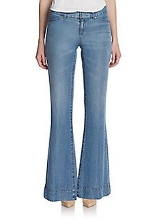 Elie Tahari Adena Flared Denim Pants