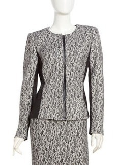 Lafayette 148 New York Bentley Chantilly-Lace Jacket, Black