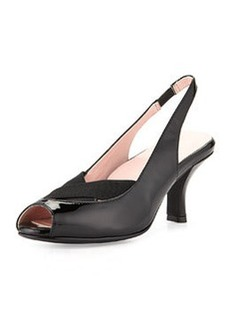Taryn Rose Cadence Napa Leather Slingback, Black