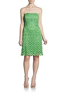 Laundry by Shelli Segal Strapless Macramé Lace Dress