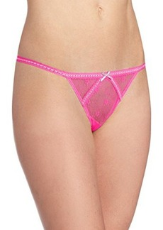 Betsey Johnson Women's Daisy Mesh Thong Panty