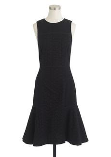 Paneled eyelet dress