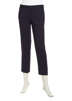 Laundry by Shelli Segal Cropped Slim Twill Pants, Ink Blot
