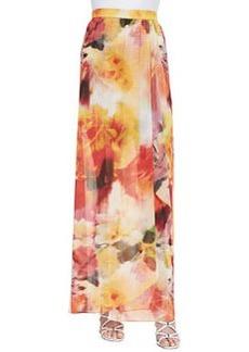 Leah Long Floral-Print Wrap Skirt   Leah Long Floral-Print Wrap Skirt