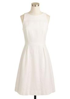 Cotton piqué lace dress