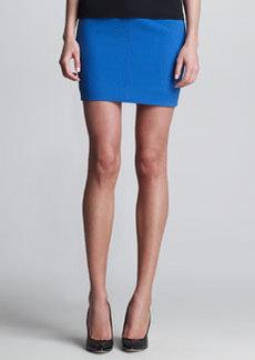 JASON WU Double-Faced Wool Miniskirt, Blue