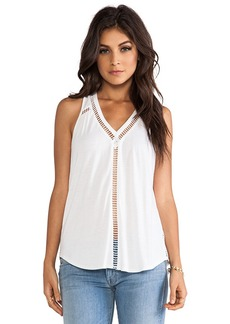 Rebecca Taylor Jersey Ladders Tank in White