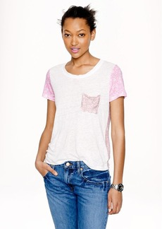 Linen ditzy floral tee
