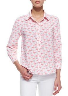 Willa Flamingo-Print Blouse   Willa Flamingo-Print Blouse