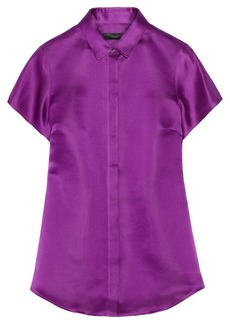 Burberry Prorsum Silk-satin shirt
