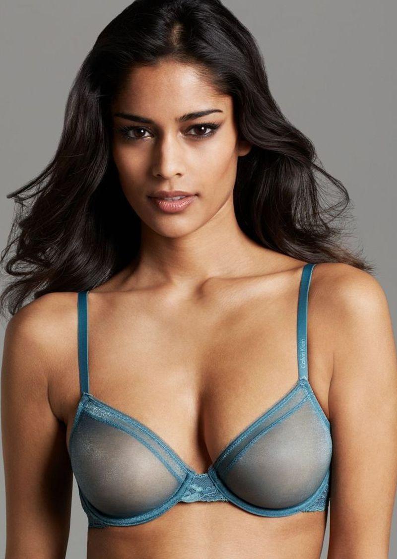 Calvin Klein Underwear Bra - Luster Bare Unlined Underwire #F3615