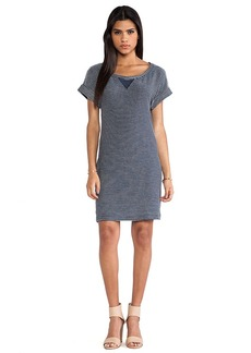 Splendid Cape Town Striped Active Dress in Navy