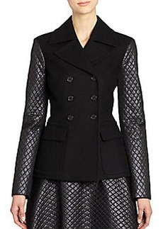 Michael Kors Techno Felted Wool Double-Breasted Jacket