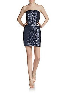 Laundry by Shelli Segal Sequined Strapless Dress