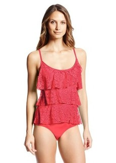 Jones New York Women's Tiered Ruffle Mio One Piece Swimsuit