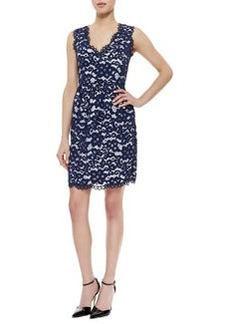 Shoshanna Sleeveless Lace Sheath Dress