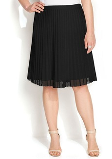 Calvin Klein Plus Size Pleated Mesh A-Line Skirt