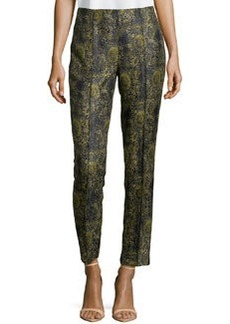 Lafayette 148 New York Slim Cropped Jacquard Pants, Armada Multi