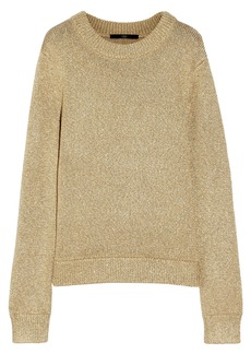 Tibi Metallic knitted sweater