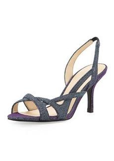 Pelle Moda Gretel Iridescent Shimmer Fabric Sandal, Azure