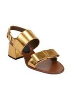 Marni Bow Double-Band Slingback Sandals
