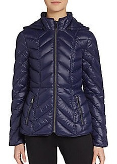 Saks Fifth Avenue BLUE Fitted Puffer Jacket