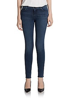 J Brand Faded Mid-Rise Super Skinny Jeans