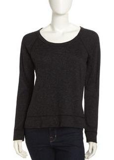 James Perse Raglan Sleeve Pullover, Black