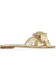 Oscar de la Renta Miss Tropical metallic leather sandals