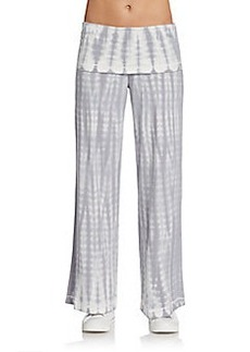 Calvin Klein Performance Tie-Dye Wide-Leg Pants