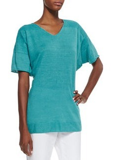 Lafayette 148 New York Oversized Dolman-Sleeve Knit Top